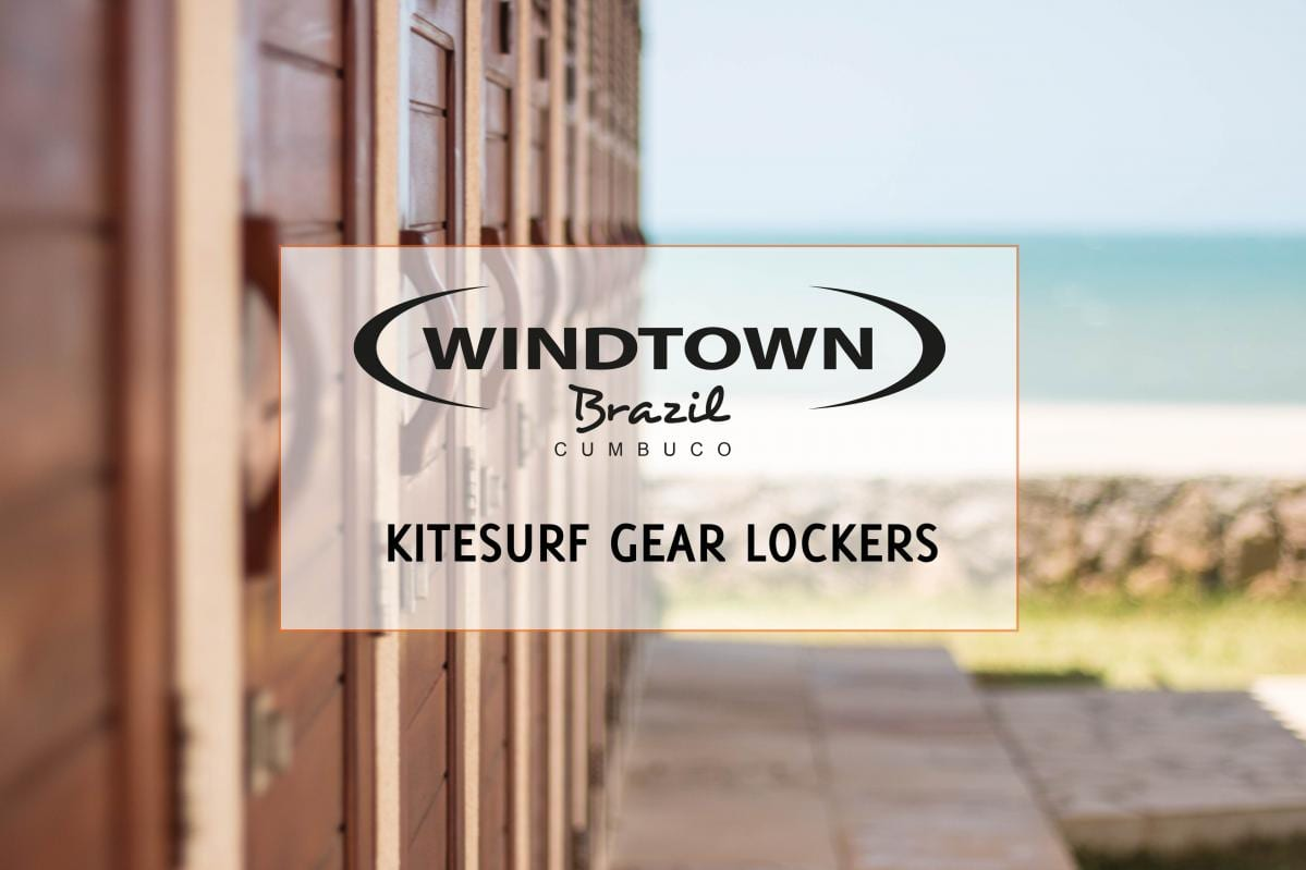 Kitesurf gear lockers | Windtown Cucumbo Brazil